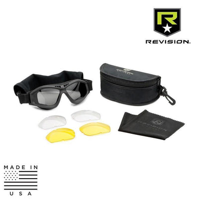 Revision Military Tactical Goggles BLACK / CLEAR / SOLAR SMOKE / YELLOW Revision Military Bullet Ant Tactical Goggle System - Deluxe Kit