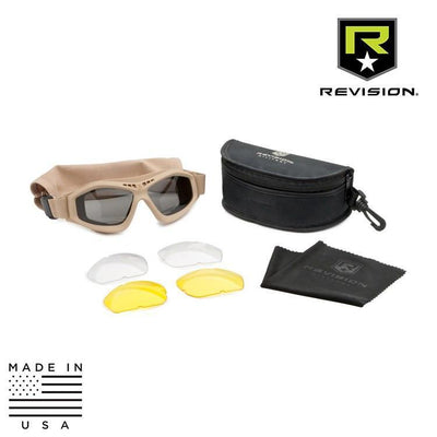 Revision Military Tactical Goggles TAN / CLEAR / SOLAR SMOKE / YELLOW Revision Military Bullet Ant Tactical Goggle System - Deluxe Kit