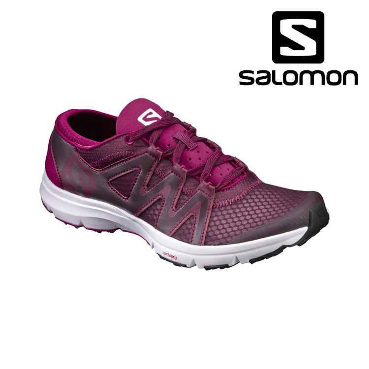 Salomon CROSSAMPHIBIAN SWIFT - Watersports shoes - fig/white/sangria