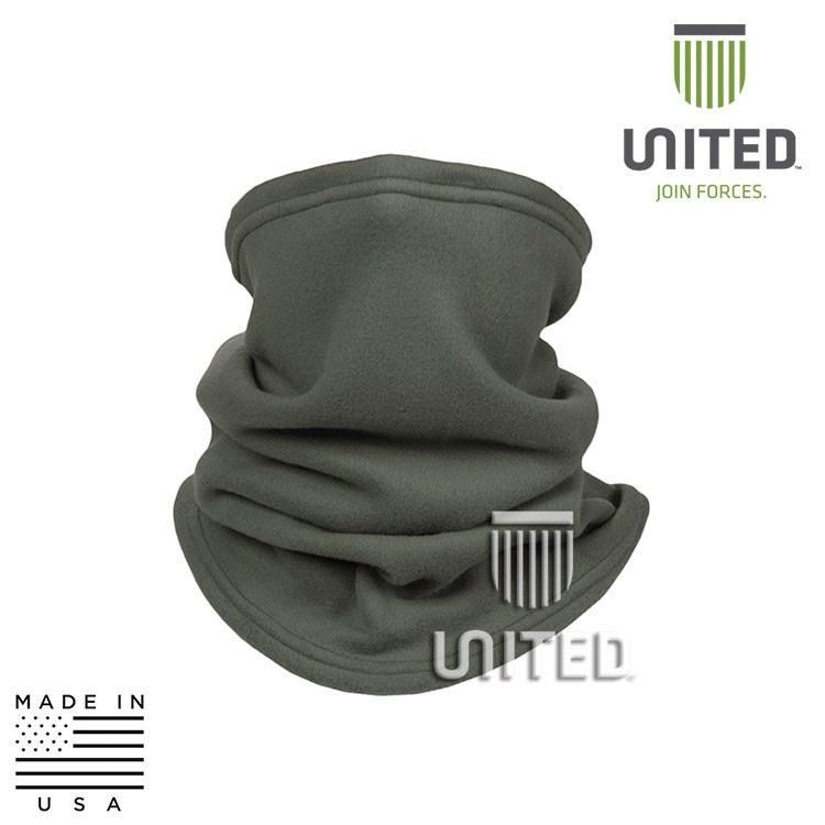 United Associates Base Layer Neck Gaiters FOLIAGE GREEN UJF D04F403 Level 5 Warmor Fleece Neck Gaiter