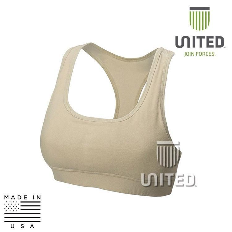 United Associates FR Base Layer Accessories DESERT SAND / X-SMALL UJF W13D302 Level 1 FR Womens Sports Bra