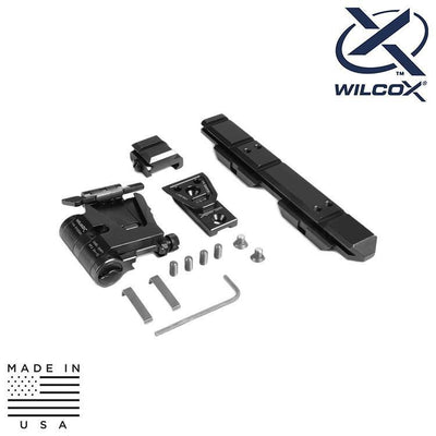 Wilcox Industries Bipods / Grips / Mounts BLACK Wilcox 61100G02 EO Tech XPS Riser Flip Mount Low Profile System - Right Hand