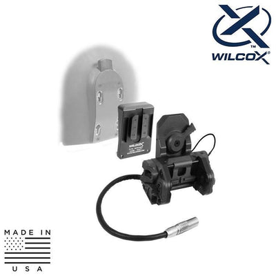 Wilcox Industries NVG Helmet Mount Systems BLACK Wilcox 62100G06 DPAM Kit w/ Interface Adapter / HGU-56/SPH-4 Shroud