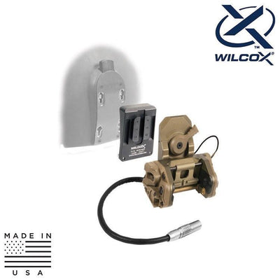 Wilcox Industries NVG Helmet Mount Systems TAN Wilcox 62100G06 DPAM Kit w/ Interface Adapter / HGU-56/SPH-4 Shroud