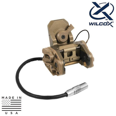 Wilcox Industries NVG Helmet Mounts / Shrouds TAN Wilcox 62101G02 Dual Powered Aviation Mount (DPAM)