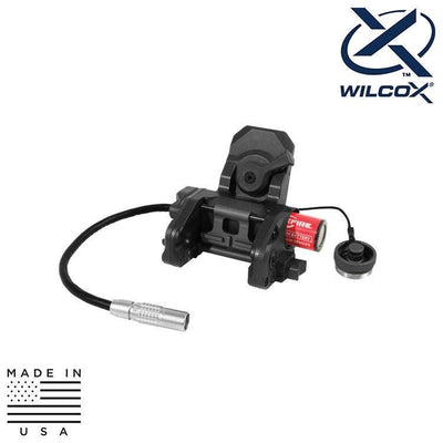 Wilcox Industries NVG Helmet Mounts / Shrouds Wilcox 62101G02 Dual Powered Aviation Mount (DPAM)