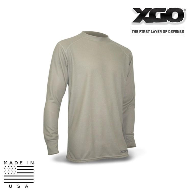 XGO Base Layer Shirts COYOTE BROWN / SMALL XGO 2GB11A Phase 2 Performance Tactical Long Sleeve Crew