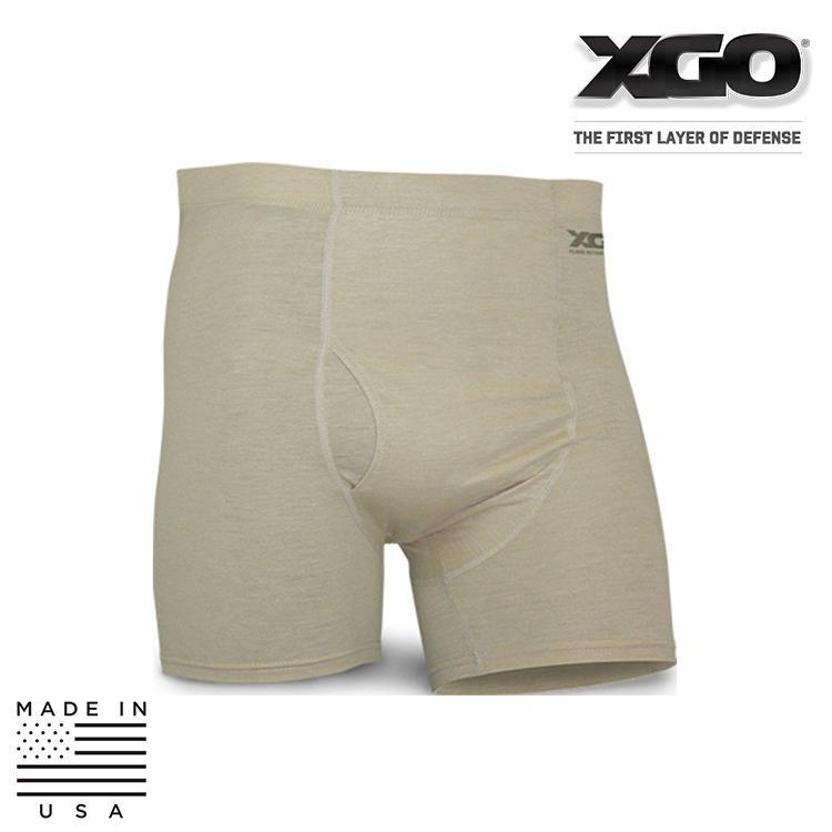 XGO Base Layers DESERT SAND / SMALL XGO 1F13X Phase 1 FR Lightweight Performance Boxer Brief