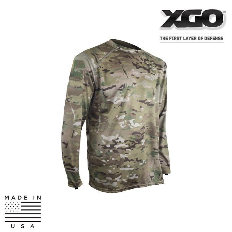 XGO Base Layers MULTICAM / SMALL XGO 1G11AQP Phase 1 Lightweight Performance Multicam® Long Sleeve Shirt