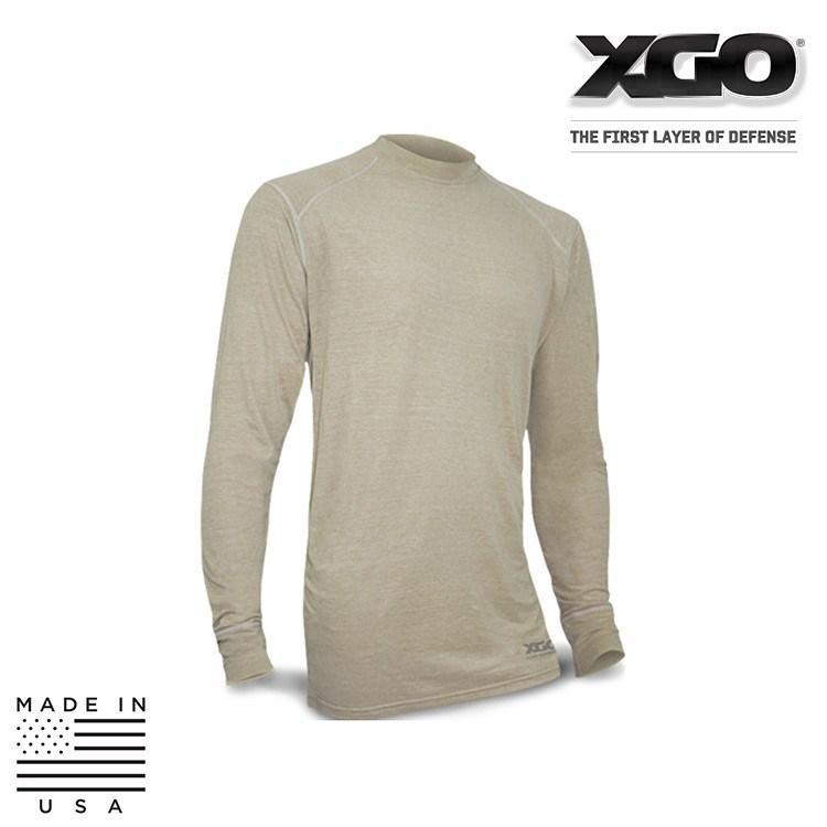 XGO FR Base Layer Shirts BLACK / SMALL XGO 1F11A Phase 1 FR Performance Tactical Long Sleeve Crew