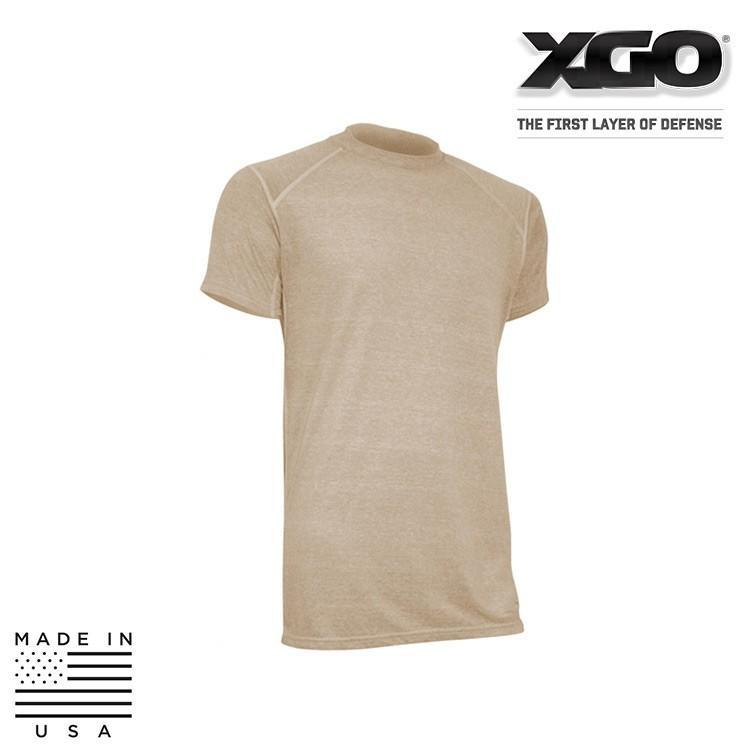 XGO FR Base Layer Shirts COYOTE BROWN / SMALL XGO 1F16M-AC Phase 1 FR Performance Tactical T-Shirt w/ Advanced Cooling