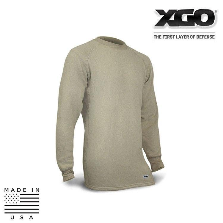 XGO FR Base Layer Shirts DESERT SAND / SMALL XGO 4F11A Phase 4 FR Performance Tactical Long Sleeve Crew