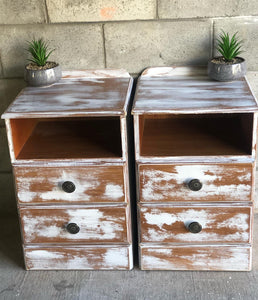 beautiful chalk painted side tables