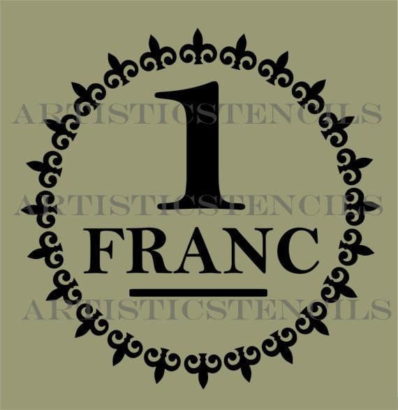 1 Franc Fleur de Lis circle stamp stencil 25.4cm diameter - Da Vinci Chalk Paint & Rustic home decor