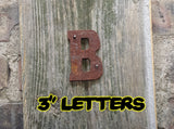Rusty metal Letters and numbers 75mm - Da Vinci Chalk Paint Creative painting