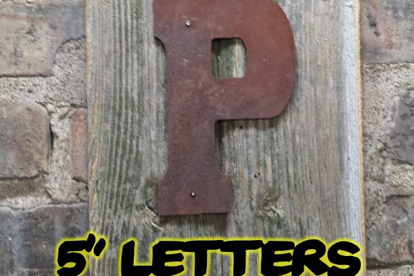 Rusty metal Letters and numbers 125mm - Da Vinci Chalk Paint & Rustic home decor