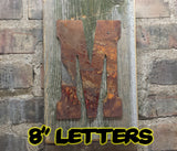 "Rusty metal Letters and numbers 200mm (8"") - Da Vinci Chalk Paint & Rustic home decor"