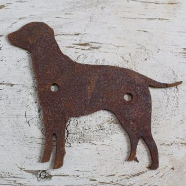 standing Dog- made from rusty steel - Da Vinci Chalk Paint Creative painting
