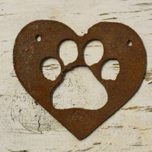 paw print- made from rusty steel (16cm x 16cm) - Da Vinci Chalk Paint Creative painting