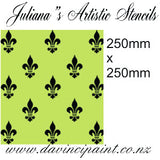 Fleur de Lis wallpaper French  premium paint stencil 250mm x 250mm - Da Vinci Chalk Paint Creative painting