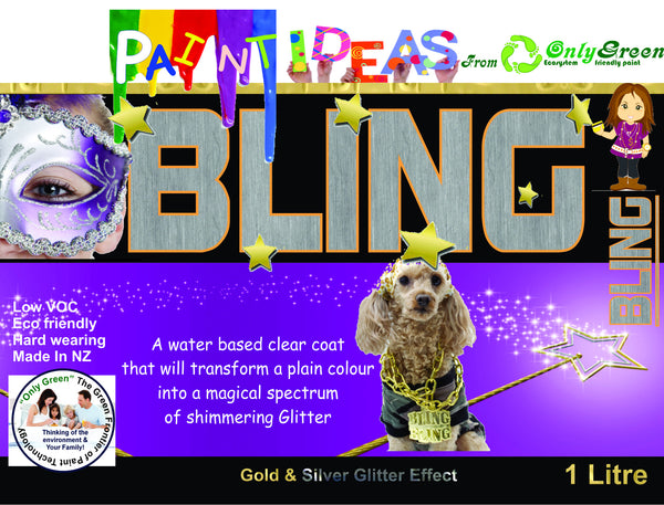 Bling wall Glitter Clear top Coat 1Ltr - Da Vinci Chalk Paint Creative painting