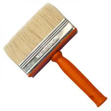 Handover Block Brush White Bristle 4cm x 14cm - Da Vinci Chalk Paint Creative painting