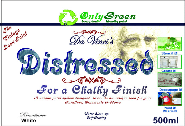 "Da Vinci ""Distressed"" Chalky Finish paint 500ml made with chalk - Da Vinci Chalk Paint Creative painting"