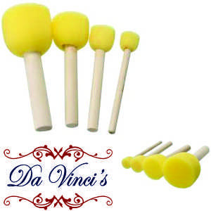 4 pce round paint Stencil foam brush - Da Vinci Chalk Paint Creative painting