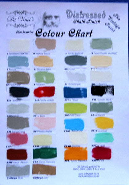 Da Vinci Chalk Finish Colour Chart - Da Vinci Chalk Paint Creative painting