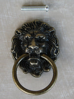 Classic Antique look Lion Head furniture pull 43mm x 67mm - Da Vinci Chalk Paint & Rustic home decor