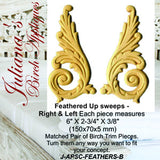 Left & Right wings,scrolls,plumes furniture appliques & onlays - Da Vinci Chalk Paint Creative painting