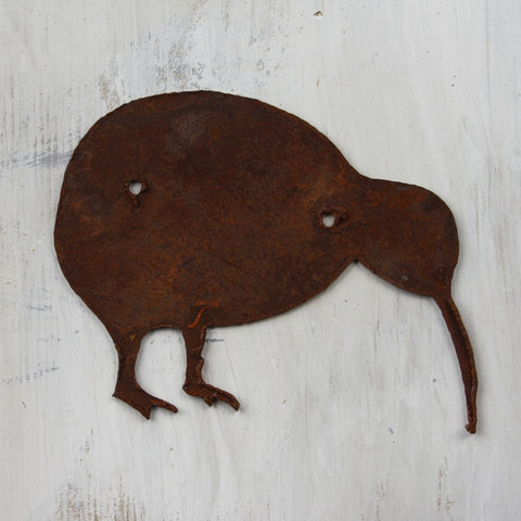 Kiwi- made from thick rusty steel (16cm x 13cm) - Da Vinci Chalk Paint Creative painting