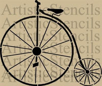 Penny Farthing shabby chic furniture stencil 25.4cm x 21cm - Da Vinci Chalk Paint Creative painting