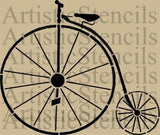 Penny Farthing shabby chic furniture stencil 25.4cm x 21cm - Da Vinci Chalk Paint & Rustic home decor