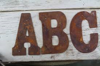 "Rusty metal Letters and numbers 200mm (8"") - Da Vinci Chalk Paint Creative painting"