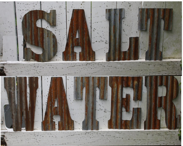 "12"" (305mm) Rusty Corrogated iron letters and Numbers - Da Vinci Chalk Paint & Rustic home decor"