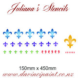 Fleur de Lis Border assorted sizes  furniture paint stencil 150mm x 450mm - Da Vinci Chalk Paint & Rustic home decor