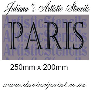 PARIS French furniture premium paint stencil 300mm x 150mm - Da Vinci Chalk Paint Creative painting