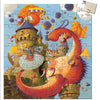 Djeco 54 Piece Puzzle Shaped Box Vaillant & The Dragon Completed