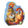 Djeco 54 Piece Puzzle Shaped Box Vaillant & The Dragon
