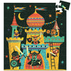 Djeco 54 Piece Puzzle Shaped Box Fortified Castle Completed