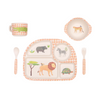 Love Mae Safari 5 Piece Bamboo Dinner Set