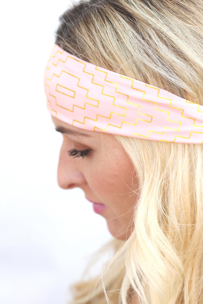 Gilded Soft Coral Headband