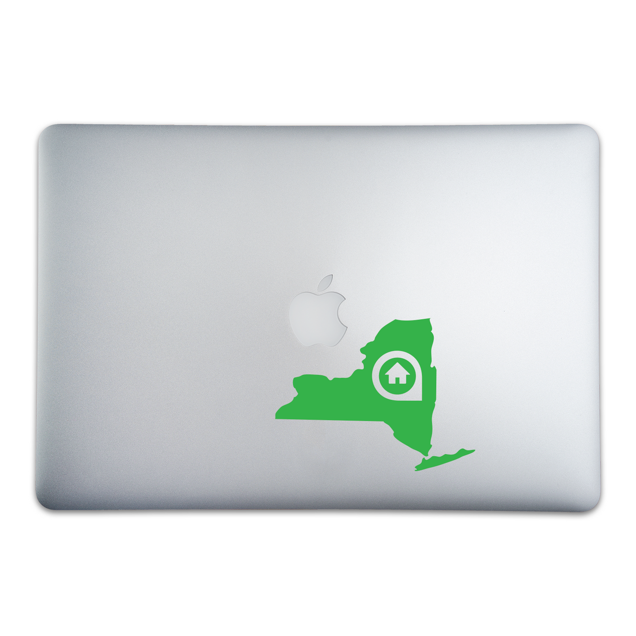 Albany New York Home Sticker On A 12-Inch Macbook
