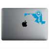 Annapolis Maryland Home Sticker On A 12-Inch Macbook