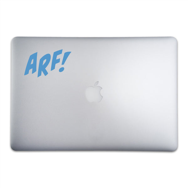 ARF! Sticker for MacBooks and Apple Devices On A 15-Inch Macbook Pro