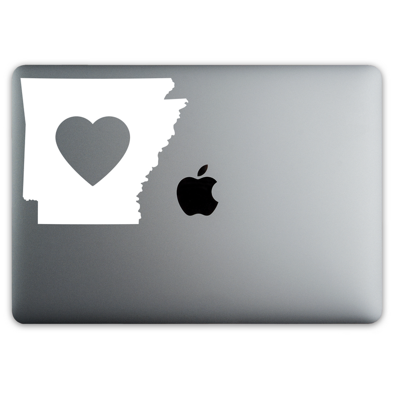 Arkansas Love Sticker for MacBooks and Apple Devices - Whipps Sticker Co.