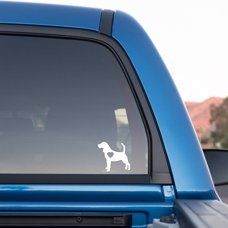 Beagle Love Sticker for Cars and Trucks - Whipps Sticker Co.