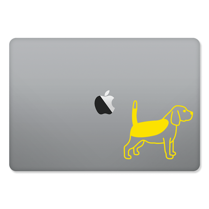 Beagle Sticker for MacBooks and Apple Devices - Whipps Sticker Co.