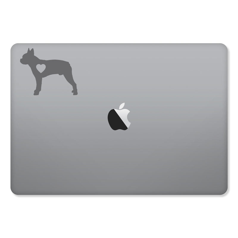 Boston Terrier Love Sticker for MacBooks and Apple Devices - Whipps Sticker Co.